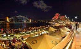 SYDNEY, AUSTRÁLIA - 11 de novembro de 2016, panorama de Sydney Opera Fotos de Stock Royalty Free
