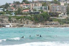 SYDNEY, AUSTRÁLIA - 15 DE NOVEMBRO DE 2014: Praia de Tamarama em Sydney, Austrália Fotografia de Stock Royalty Free