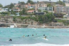 SYDNEY, AUSTRÁLIA - 15 DE NOVEMBRO DE 2014: Praia de Tamarama em Sydney, Austrália Fotografia de Stock