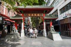 Sydney, Austrália - O 10 de outubro de 2017 - A porta do bairro chinês do ` s de Sydney foto de stock