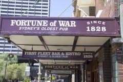 SYDNEY, 19 Australië-December 2913: Het Fortuin van Oorlogsbar binnen stock foto