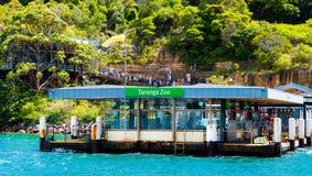 Sydney, Australië - Januari 11, 2014: De veerbootpost van de Tarongadierentuin Royalty-vrije Stock Foto's