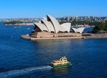 SYDNEY AUSTRALIË - 12,2017 Maart: Mening van Sydney Opera House-verstand Royalty-vrije Stock Foto