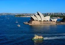 SYDNEY AUSTRALIË - 12,2017 Maart: Mening van Sydney Opera House-verstand Royalty-vrije Stock Afbeelding