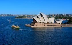SYDNEY AUSTRALIË - 12,2017 Maart: Mening van Sydney Opera House-verstand Royalty-vrije Stock Afbeeldingen