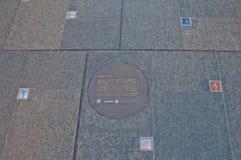 SYDNEY, AUSTRALIË - MEI 5, 2018: ` Bezinnings` openbare kunst aan hulde aan het geheugen van verdwenen twee Australiërs tijdens M Stock Afbeelding
