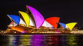 SYDNEY, AUSTRALIË - MEI 27.2016: De Sydney Opera House-zeilen l stock foto