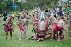 A `smoking ceremony` among Indigenous Australians that involves burning plants to produce smoke. SYDNEY, AUSTRALIA – On January 26, 2018 royalty free stock image