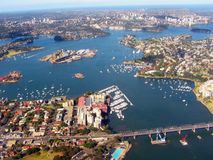 Sydney, Australia. Aerial view of Sydney Harbour and Birkenhead Point, Sydney, Australia Stock Photography