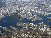 Sydney Australia. Aerial view of Sydney Harbour, Australia Royalty Free Stock Photo