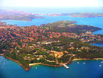 Sydney Australia. Aerial view of Sydney Harbour looking at Sydney Zoo, Australia Royalty Free Stock Photos