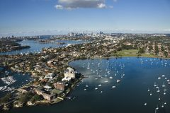 Sydney Australia aerial. Royalty Free Stock Photo