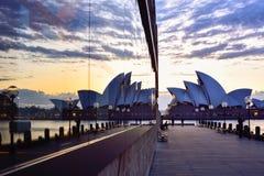 SYDNEY, AUSTRALIA - 22 agosto 2015: Vista di alba a Sydney O Fotografia Stock Libera da Diritti