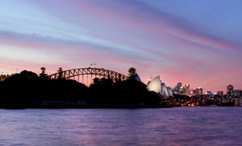 SYDNEY AUSTRALIA - APRIL  8, 2014; Pink and Red Sunset  sky over Stock Photo