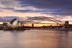Sydney Australia au coucher du soleil Photos libres de droits