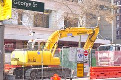 Construction work,Sydney Royalty Free Stock Photo