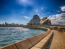 SYDNEY, AUSTRALIA - AUGUST 20, 2018: Opera House as seen on a sunny day. This is the symbol of Sydney.  royalty free stock images