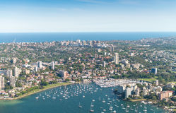 Sydney, Australia. Awesome aerial view from helicopter on a beau Royalty Free Stock Photography
