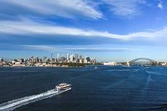 Sydney Australia city skyline with harbour bridge Stock Photo