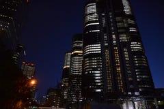 Sydney Australia city skyline tower blocks at night. Stock Photo