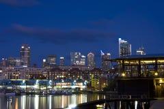 Sydney Australia Cityscape at Night Royalty Free Stock Photos