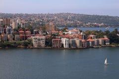 Sydney, Australia dal ponte del porto Fotografia Stock