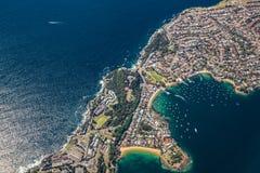 SYDNEY, AUSTRALIA - 23 DE OCTUBRE DE 2014: De la opinión del aire de los vagos de Watsons Fotografía de archivo