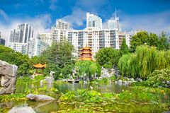 Chinese Garden of Friendship in Sydney, Australia. Royalty Free Stock Photography