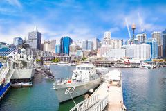 City scape of Darling Harbour in Sydney, Australia. Royalty Free Stock Photos