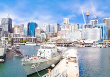 City scape of Darling Harbour in Sydney, Australia. Stock Photo