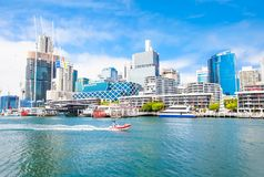 City scape of Darling Harbour in Sydney, Australia. Stock Images