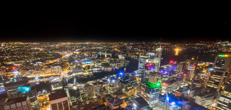 Sydney, Australia - December 30, 2015: Aerial view of the Centra Stock Photo