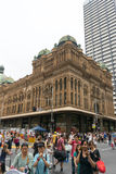 Sydney, Australia - December 26, 2015: Croud of people at the fa. Mous shopping mall around Sydney CBD during the boxing day sales Stock Images