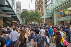 Sydney, Australia - December 26, 2015: Croud of people at the fa Stock Images