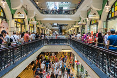 Sydney, Australia - December 26, 2015: Crowd of people at the fa Stock Image