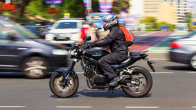 Riding a motorbike in Sydney Stock Images
