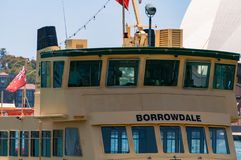 Sydney ferry boat close up Royalty Free Stock Photos