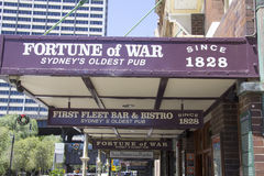 SYDNEY, AUSTRALIA-December 19th 2913: The Fortune of War pub in Stock Photo