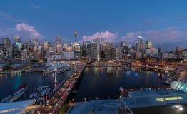 SYDNEY, AUSTRALIA - 28 febbraio 2017: Scena di notte del tesoro H Fotografie Stock