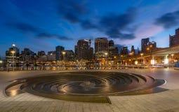 SYDNEY, AUSTRALIA - 28 febbraio 2017: Scena di notte del tesoro H Immagini Stock Libere da Diritti