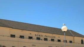 SYDNEY, AUSTRALIA - 31 GENNAIO 2016: fine sulla vista obliqua del pavillion alla spiaggia di bondi a Sydney immagini stock