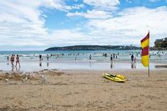 SYDNEY, AUSTRALIA - 13 GENNAIO 2018: Spiaggia d'acqua dolce a Sydney Immagini Stock