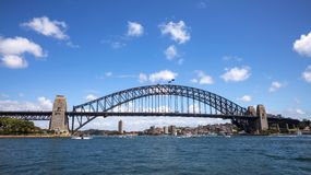 Sydney Harbour Bridge on a sunny day. Royalty Free Stock Photo