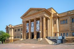 Facade of public library of new south wales, a large heritage-listed special collections,. The State Library of New South Wales, part of which is known as the royalty free stock image