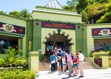 Sydney, Australia - January 11, 2014 : Line at the entrance at Taronga Zoo in Sydney Stock Image
