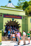 Sydney, Australia - January 11, 2014 : Line at the entrance at Taronga Zoo in Sydney Royalty Free Stock Photo