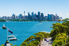 Sydney, Australia - January 11, 2014 : View over Opera House and Central Business District skyline Stock Image