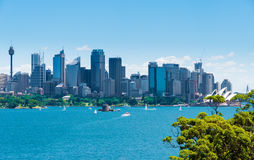 Sydney, Australia - January 11, 2014 : View over Opera House and Central Business District skyline Royalty Free Stock Images