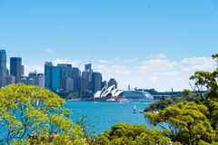 Sydney, Australia - January 11, 2014 : View over Opera House and Central Business District skyline Royalty Free Stock Photo