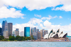 Sydney, Australia - January 11, 2014 : View over Opera House and Central Business District skyline Stock Photography